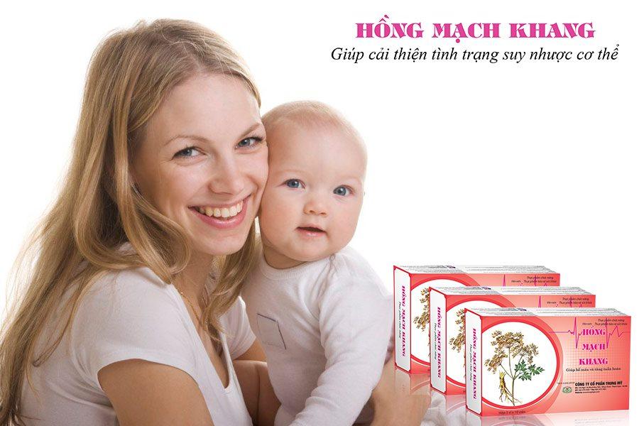 Lựa chọn Hồng Mạch Khang để sớm khắc phục chứng mệt mỏi sau sinh